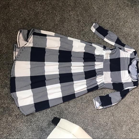 Buffalo Check Midi Dress WITH POCKETS